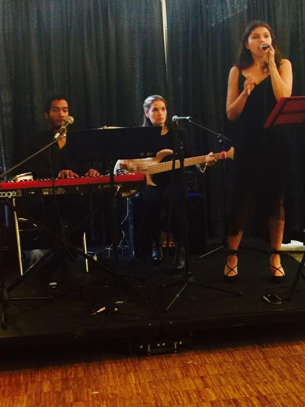 Monica Paez Performing at 120 Diner