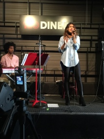 Monica Paez Performing at 120 Diner